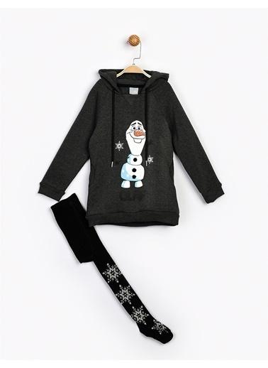 Frozen  Çocuk Elbise Ve K. Çorap 16278 Gri